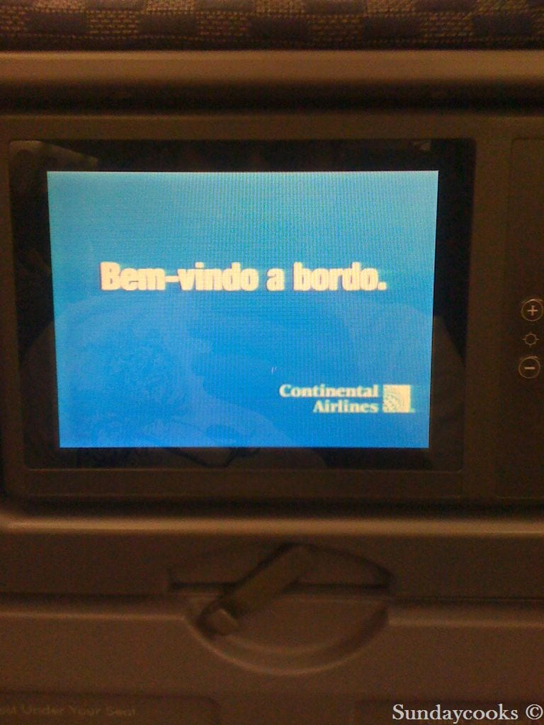 check in continental airlines guarulhos boeing aviao interior tv