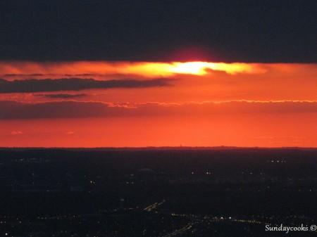 360 Chicago (antido John Hancock Observatory) - vista do alto 5 por do sol em chicago