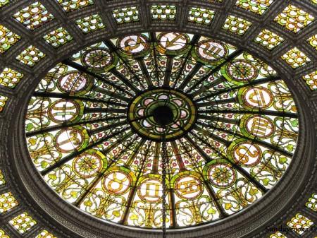 Vitrais da Tiffany no Chicago Cultural Center