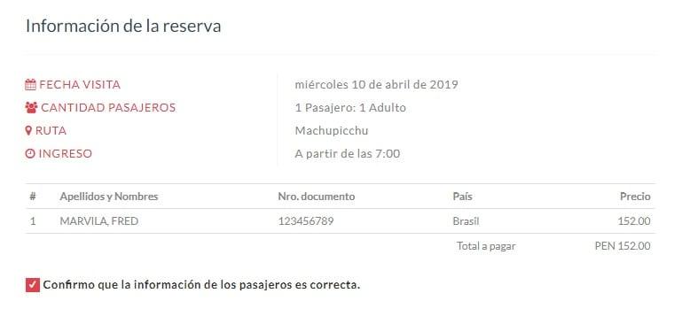Como comprar ingressos de Machu Picchu 2019 - 04