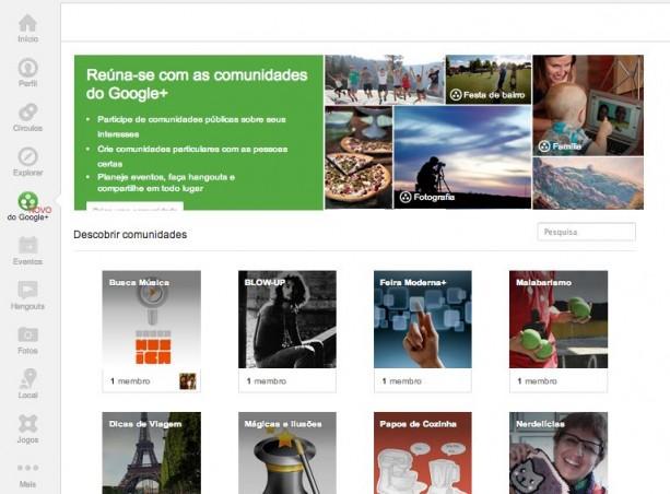 Comunidade no Google Plus - Comunidades
