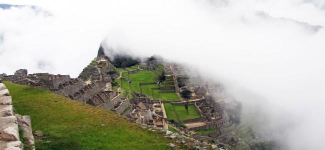 Machu Picchu - começo da manhã com neblina