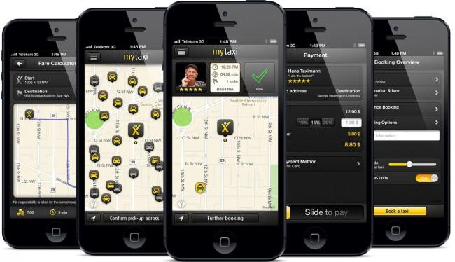 Apps de Táxi - My Taxi - telas
