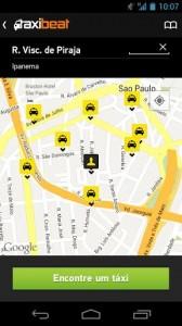 Apps de Táxi - Taxibeat - táxis próximos