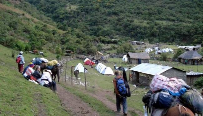 Trilhas no Peru: Trilha de Salkantay - acampamento