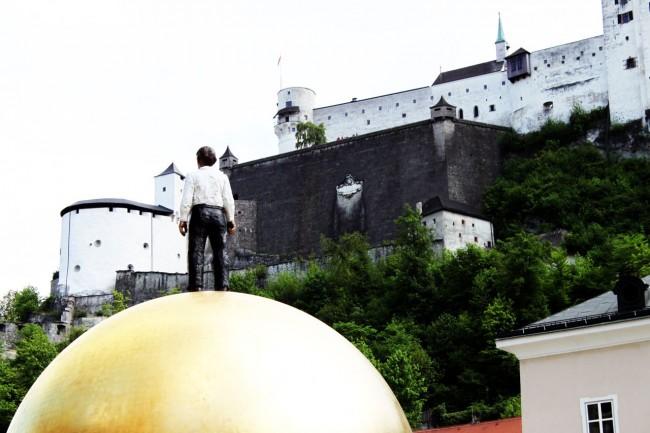 Roteiro de Salzburg - detalhe da escultura