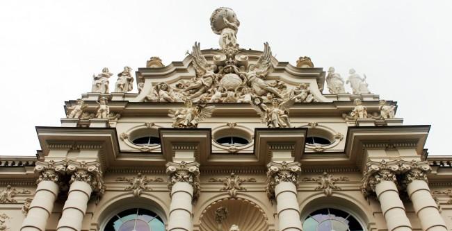 Castelos da Alemanha - Fachada do palácio de Linderhof