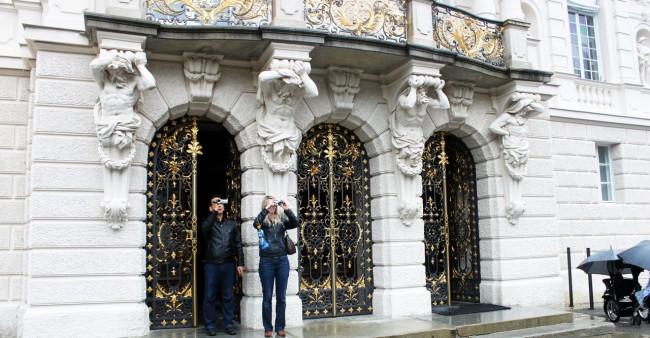 Castelos da Alemanha - Portas do palácio de Linderhof