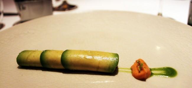 Restaurantes na Cidade do México - Pujol: Carpaccio de Abacate recheado