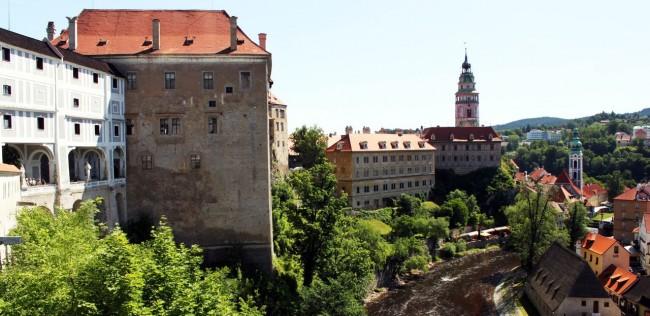 Cesky Krumlov UNESCO - Vista lateral do castelo
