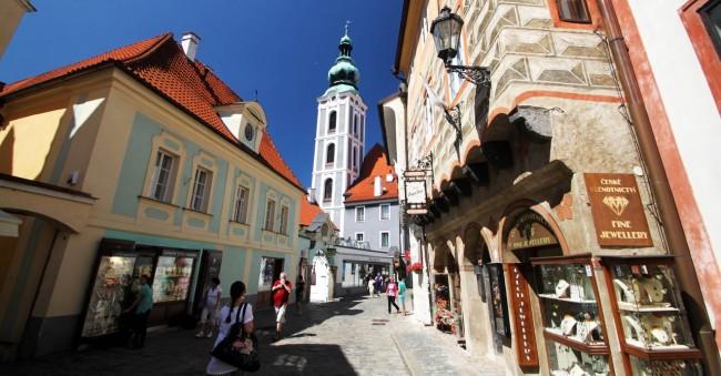 Cesky Krumlov UNESCO - Outra ruazinha da cidade