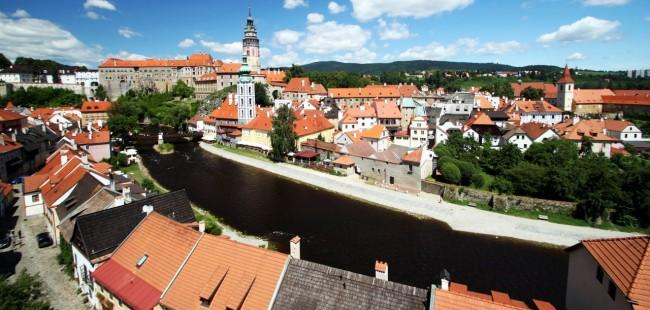 Cesky Krumlov UNESCO - Outra curva do rio