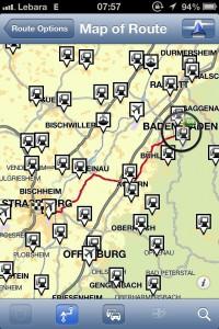 App de GPS TomTom - Pontos de interesse no caminho