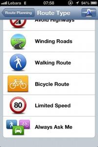 App de GPS TomTom - Tipos de Rota 2