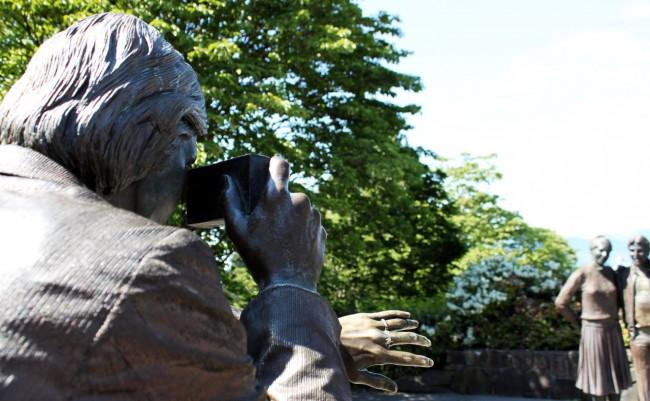 Dicas e roteiros de Vancouver - Estátuas no Queen Elisabeth
