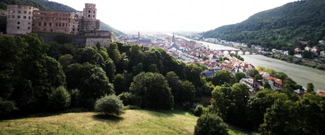 Guia de Heidelberg na Alemanha - Paisagem do alto do castelo