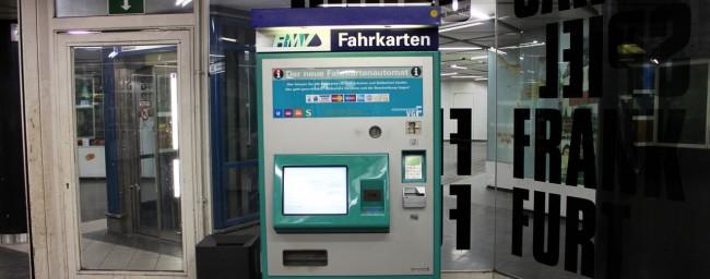 Metrô de Frankfurt - Máquina de compra de tickets do metrô