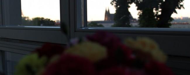 Castelo de Praga - Vista do Castelo pelo Petrin