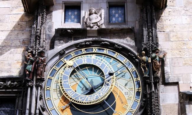 Relógio Astronômico de Praga - Parte superior