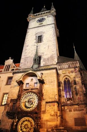 Relógio Astronômico de Praga - Vista noturna 2