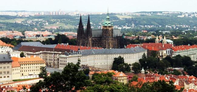 Petrin em Praga - Vista do Castelo de Praga