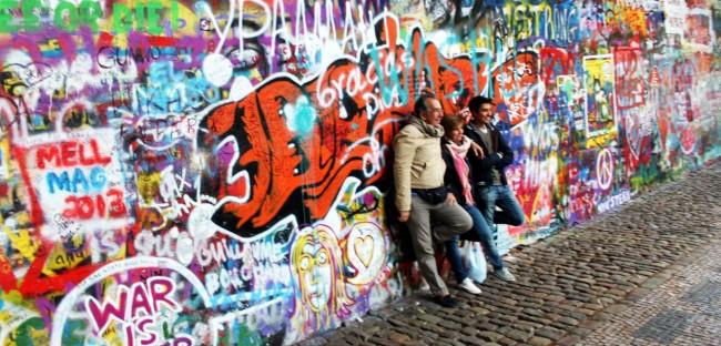 Malá Strana Praga - Muro do John Lennon / John Lennon Wall 2
