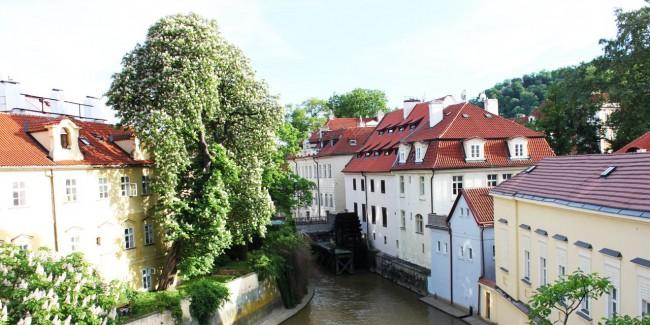 Malá Strana Praga - Rio Certovka, goblin e a roda d'água de praga