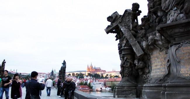 Ponte Carlos em Praga - Vista 1