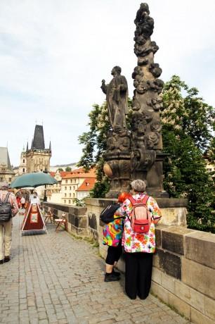 Ponte Carlos em Praga - Escultura 3
