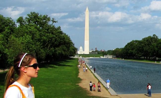Capitólio de Washington - Vista do Lincoln Memorial