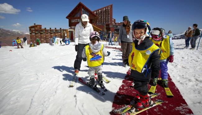 Guia de Valle Nevado - Crianças na escolinha de esqui