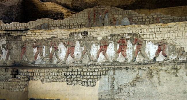 Trujillo Complexo El Brujo e Senhora de Cao - Detalhes da parede 1
