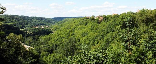 Rothenburg - Vista do alto do castelo (ou o que sobrou dele)