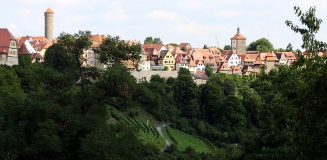 Rothenburg - Vista do alto do castelo (ou o que sobrou dele) 2
