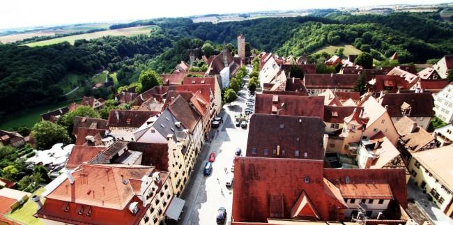 Rothenburg - Vista do alto da torre da prefeitura 3