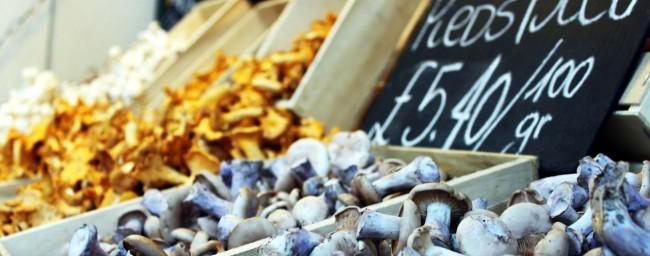 Borough Market de Londres - Cogumelos 1