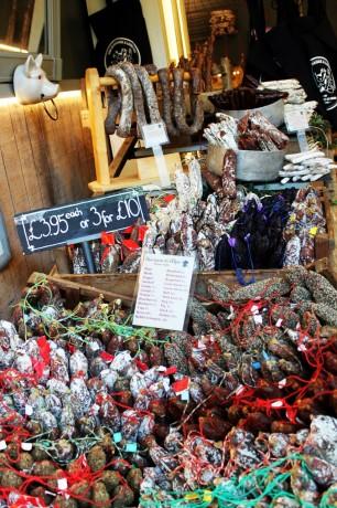 Borough Market de Londres - Salames
