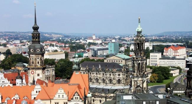 Dicas de viagem a Dresden - Cidade Velha Alstadt Vista do alto da Frauenkirche 2