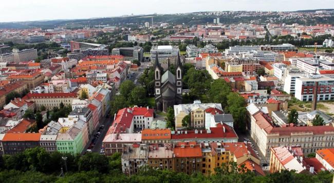 De onde ver Praga do alto - Torre da TV 1
