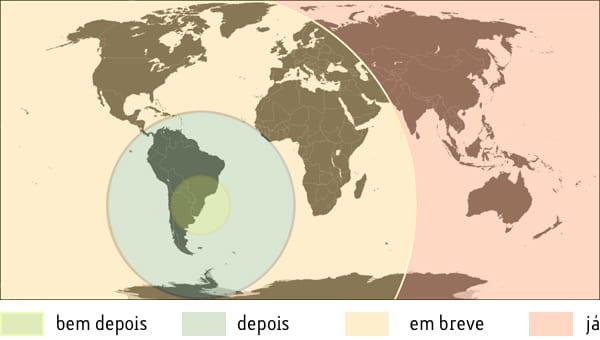 Primeiro mundo, depois América e Brasil