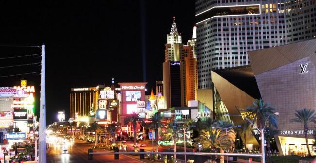 Onde ficar em Las Vegas - Strip de noite