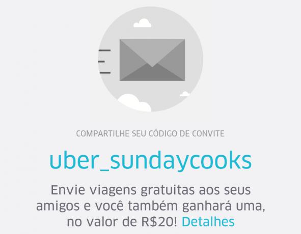 Como usar o Uber - Codigo de desconto uber_sundaycooks