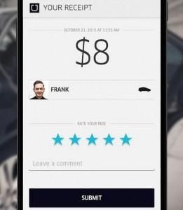 Como usar o Uber - recibo na app