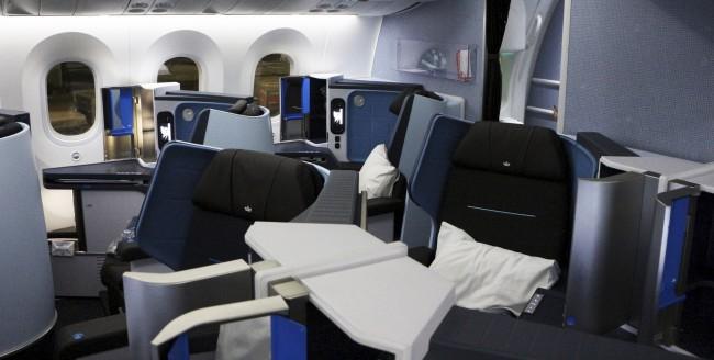 Como é voar de business class na KLM - 04