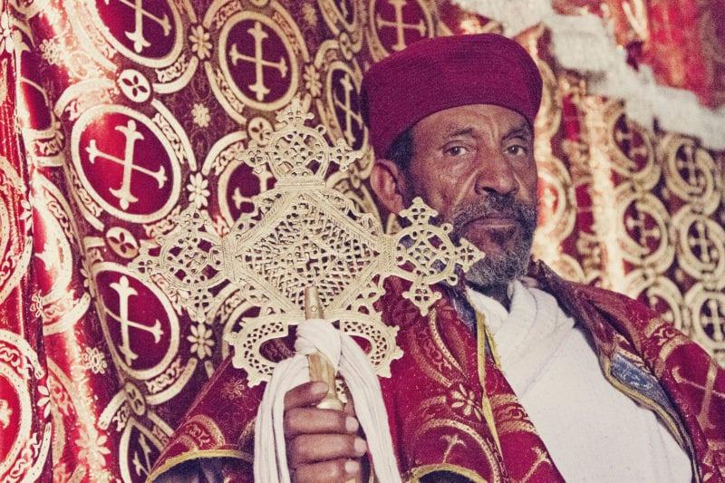Sacerdote em Lalibela, Etiópia