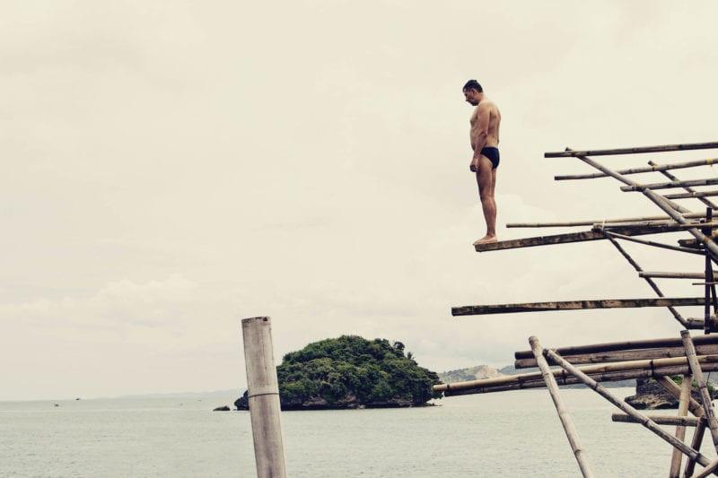 Trampolim no mar, uma das tantas atividades em Boracay