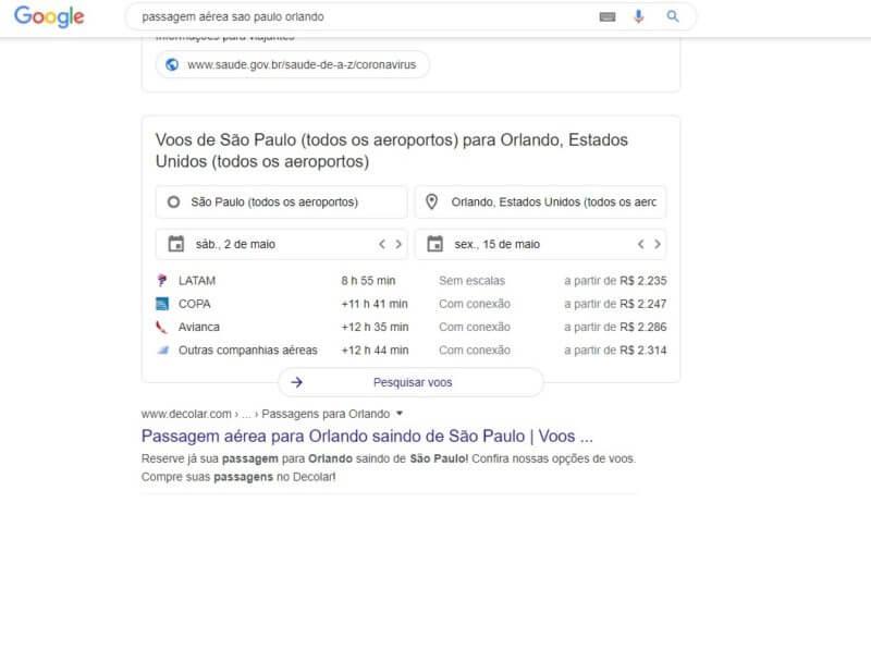 Como usar o Google Flights e achar passagens baratas 7