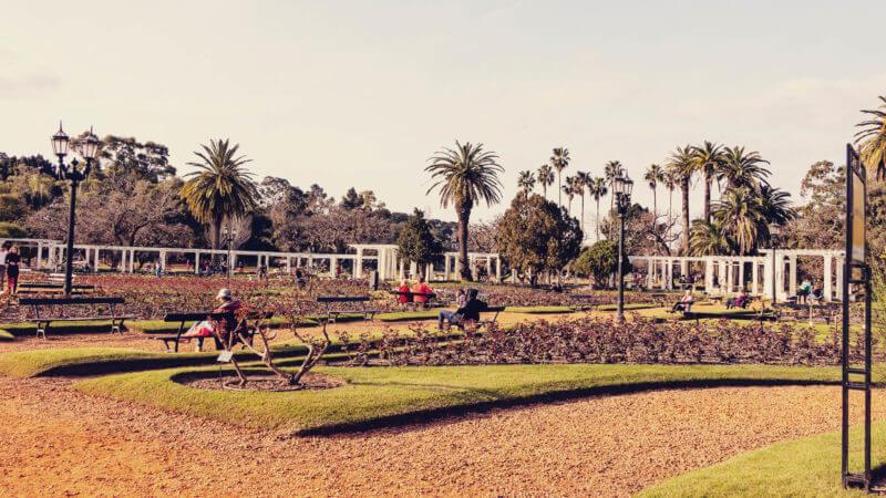 Melhores parques de Buenos Aires: roseiral
