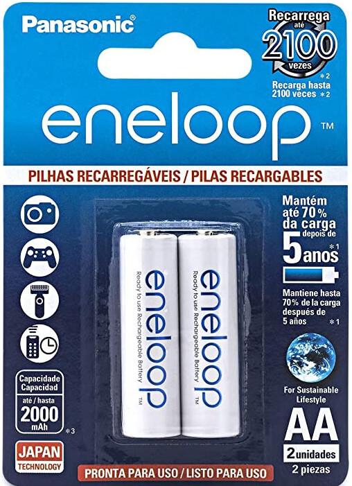 melhores pilhas recarregáveis - eneloop